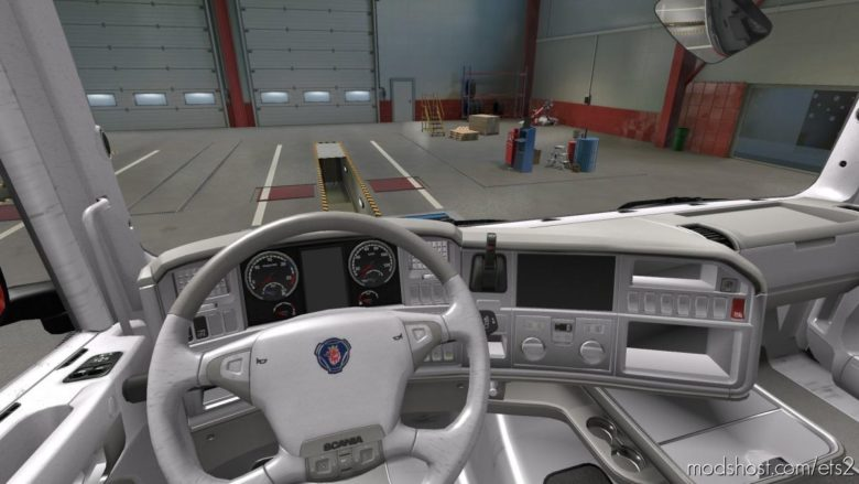 Scania R 2009 – Exclusive White Interior [1.39] for Euro Truck Simulator 2