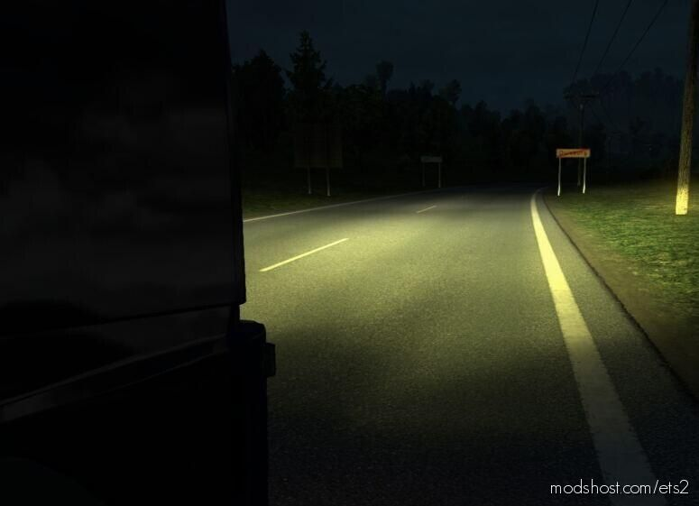 Classic Yellow Lights [1.39 – 1.40] for Euro Truck Simulator 2