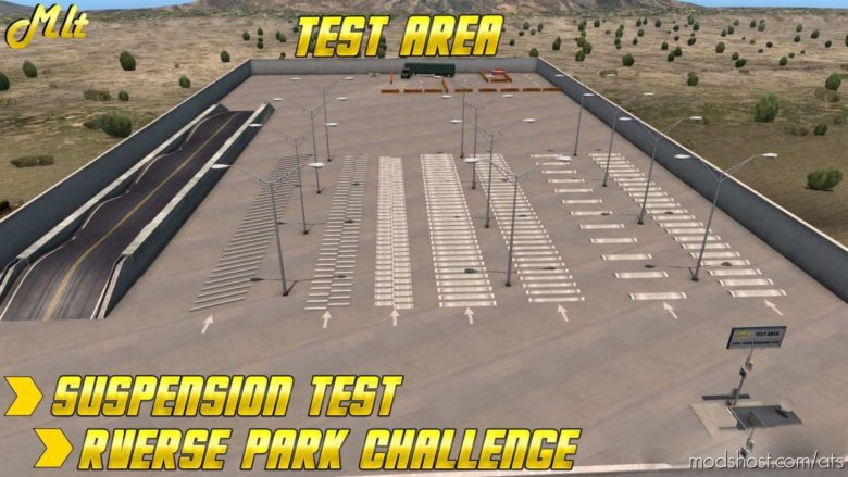 Test Area & Reverse Park Challange Area V0.1 for American Truck Simulator