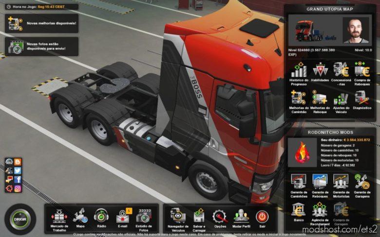Profile Grand Utopia Map By Mygodness 1.10 [1.40] for Euro Truck Simulator 2
