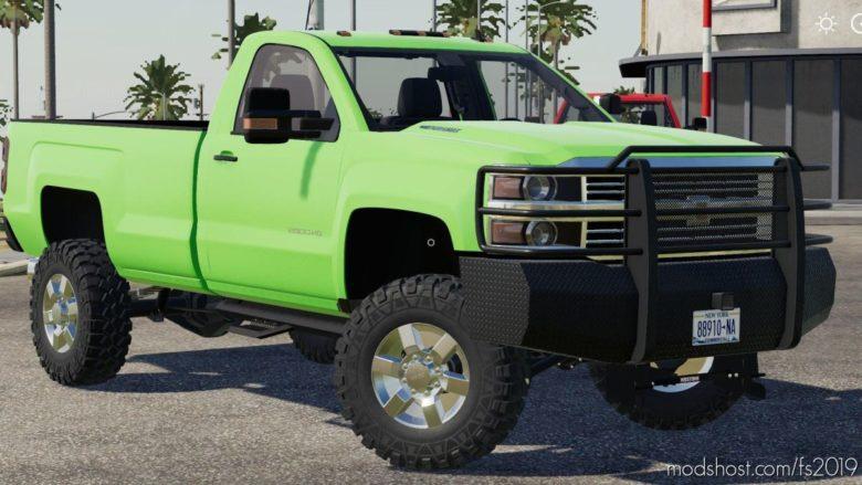 Lifted 2017 Chevy Silverado 2500 for Farming Simulator 19