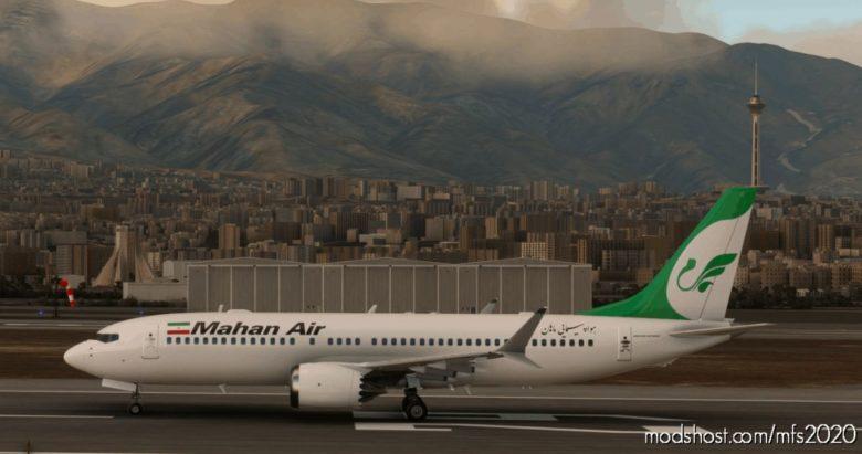 Mahan AIR Boeing 737 MAX (5K*10K) for Microsoft Flight Simulator 2020