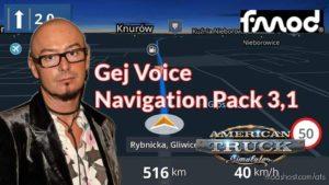 GEJ Voice Navigation Pack V3.1 for American Truck Simulator