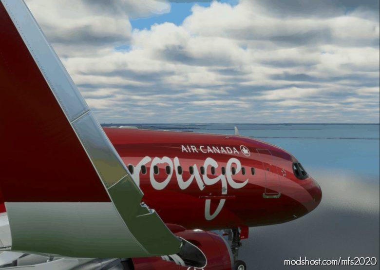 A320Neo Fictional AIR Canada Rouge -8K V1.1 for Microsoft Flight Simulator 2020