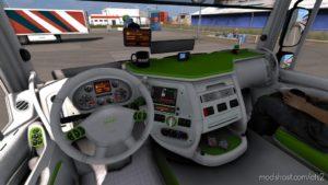 Interior DAF 105 XF Green/White [1.40] for Euro Truck Simulator 2