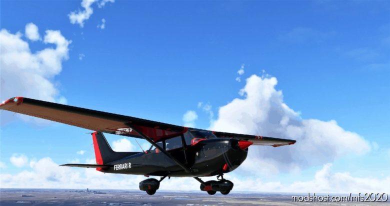Cessna 172 (G1000) Ferrari RED ON Black for Microsoft Flight Simulator 2020