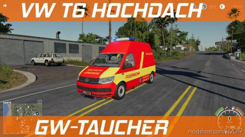VW T6 Hochdach Feuerwehr Konigsberg for Farming Simulator 19