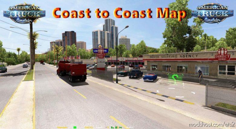 Coast To Coast Map – V2.11.12 [1.40] for Euro Truck Simulator 2