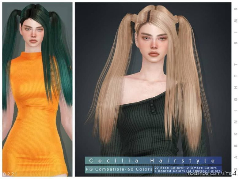 Cecilia Hairstyle for The Sims 4