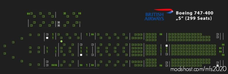 Pacx British Airways Boeing 747-400 Seating Plans for Microsoft Flight Simulator 2020