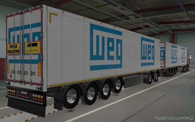 Skin Owned Trailers WEG [1.40] for Euro Truck Simulator 2