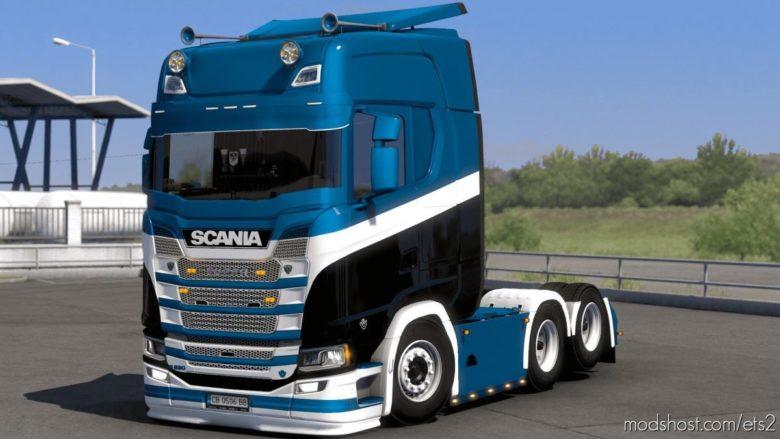 Skin By Kript Paintjob's Scania S for Euro Truck Simulator 2