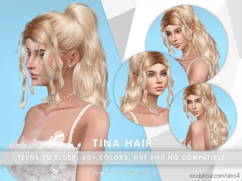 Tina Hair for The Sims 4