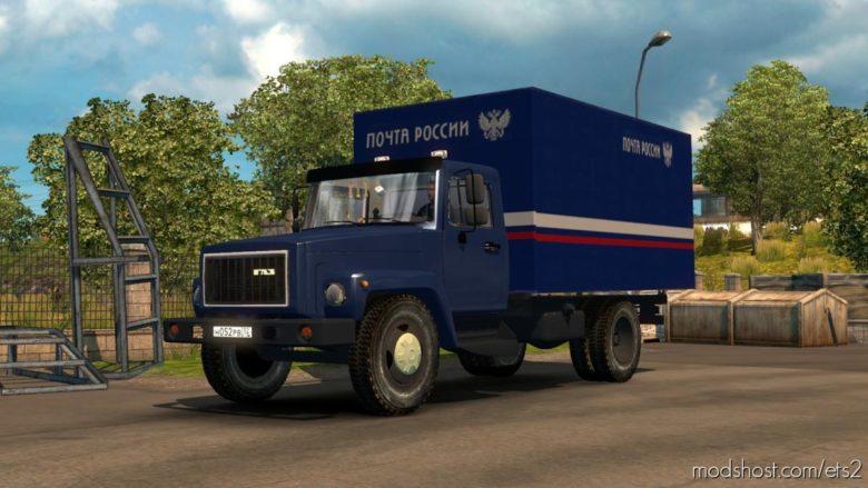 GAZ 3307-33081 + Trailers [1.40] for Euro Truck Simulator 2