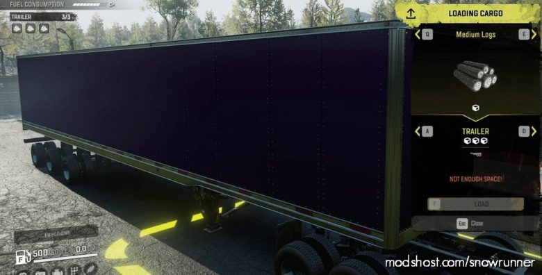 IX Enclosed LOG Trailers V1.2 for SnowRunner