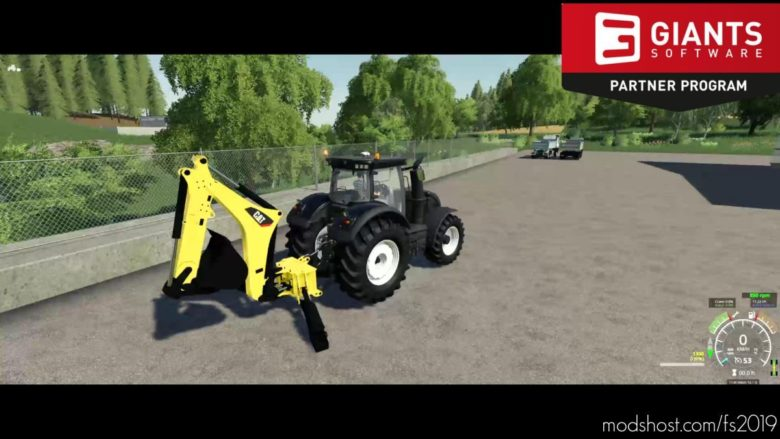 CAT Backhoe For Tractors for Farming Simulator 19
