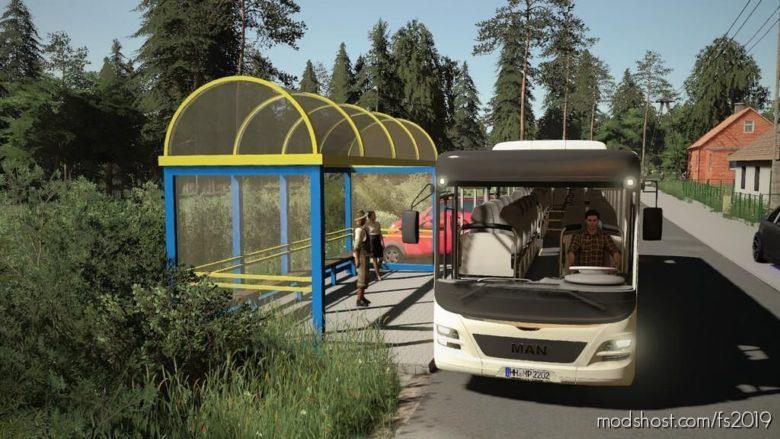 Polish BUS Stop (Prefab) for Farming Simulator 19