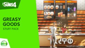 Greasy Goods – Custom Stuff Pack for The Sims 4