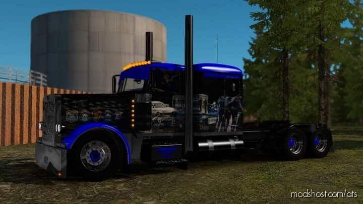 Police Tribute Skin I For Viper Peterbilt for American Truck Simulator