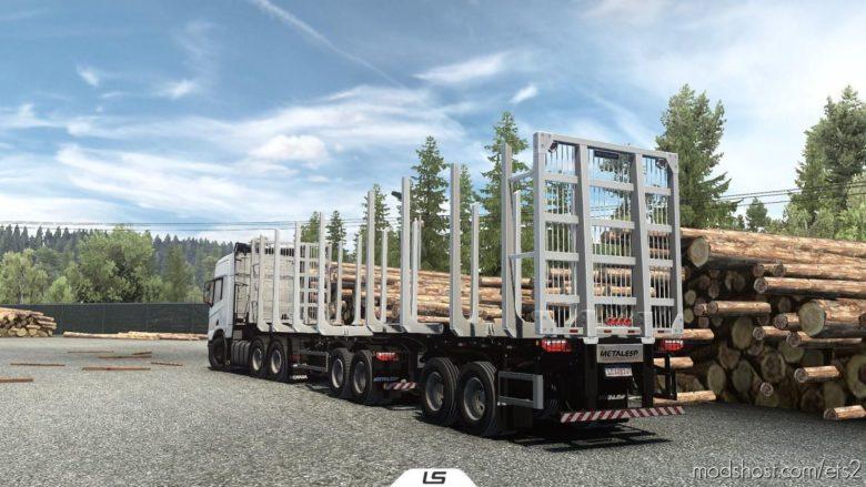 Metalesp Bi-Train Wood Transport 7 Axles V0.4 [1.40] for Euro Truck Simulator 2