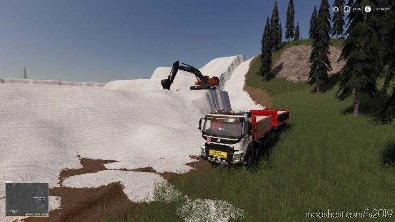 Volvo FMX 8X4 + Meiller Tandem Pack V1.2 for Farming Simulator 19