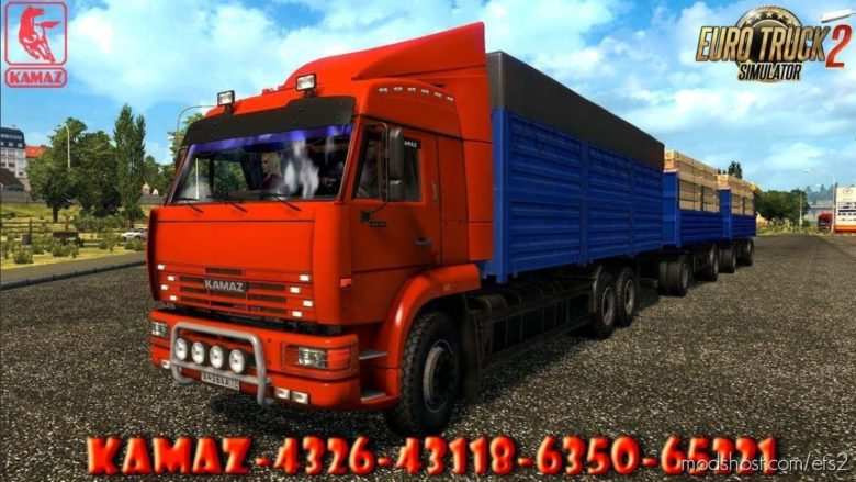 Kamaz – 4326 / 43118 / 6350 / 65221 + Trailers [1.40] for Euro Truck Simulator 2