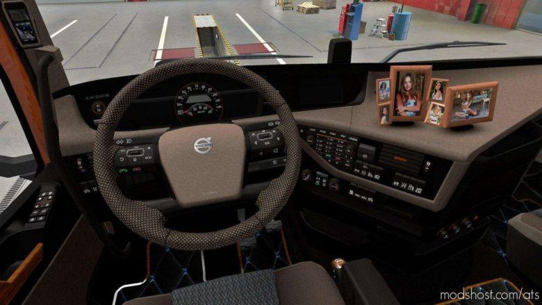 Beige Interior Volvo FH16 2012 V0.9 for American Truck Simulator