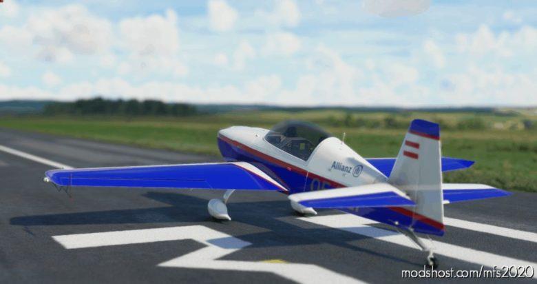 Extra 330LT – Blue-Red-White Livery – Oe-Cfv V0.1 for Microsoft Flight Simulator 2020