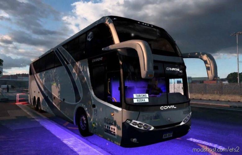 MB Comil Campione HD 6×2 + Skins BR [1.40.X] for Euro Truck Simulator 2