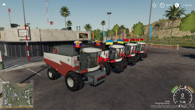 Rostselmash Akros Pack V4.1 for Farming Simulator 19