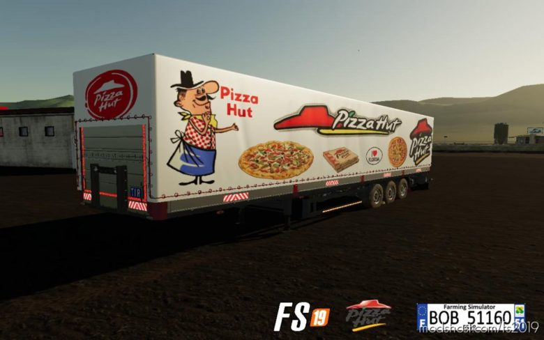 Trailer Pizza HUT By BOB51160 for Farming Simulator 19