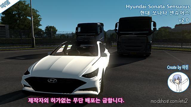 Hyundai Sonata Sensuous (DN8) V2.0 [1.39.X] for Euro Truck Simulator 2