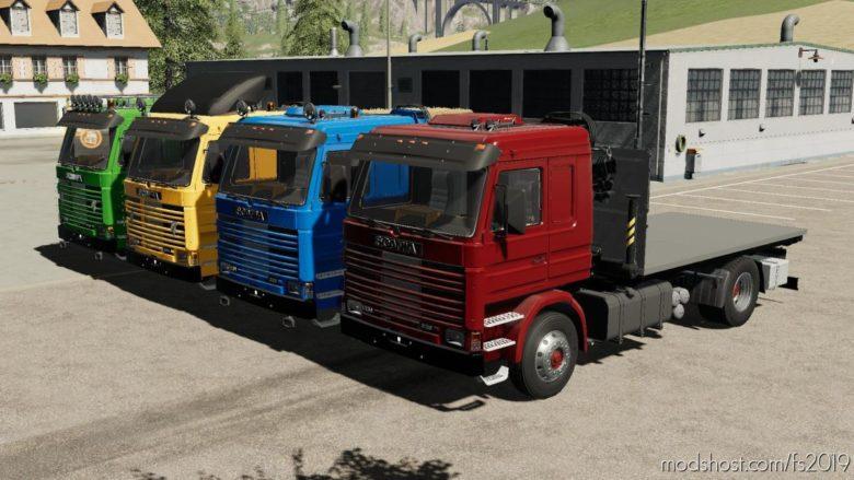Scania 113H Sidedoors + Crane for Farming Simulator 19