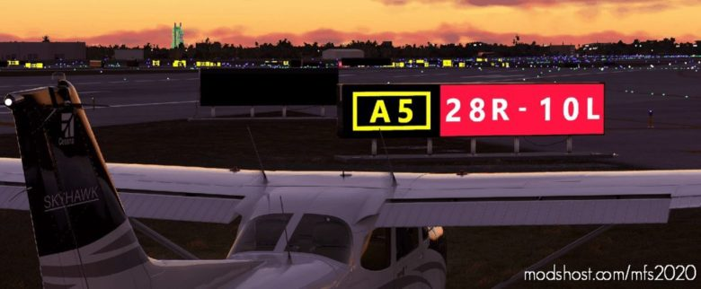 Taxiway / Runway Signs for Microsoft Flight Simulator 2020