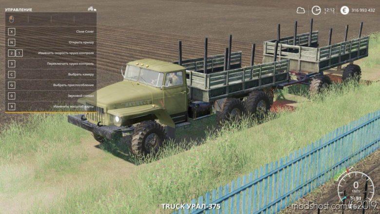 Ural 375 Lesovoz for Farming Simulator 19