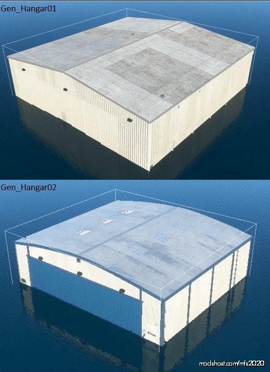 Visual Reference Guide For Default Generic Hangars for Microsoft Flight Simulator 2020