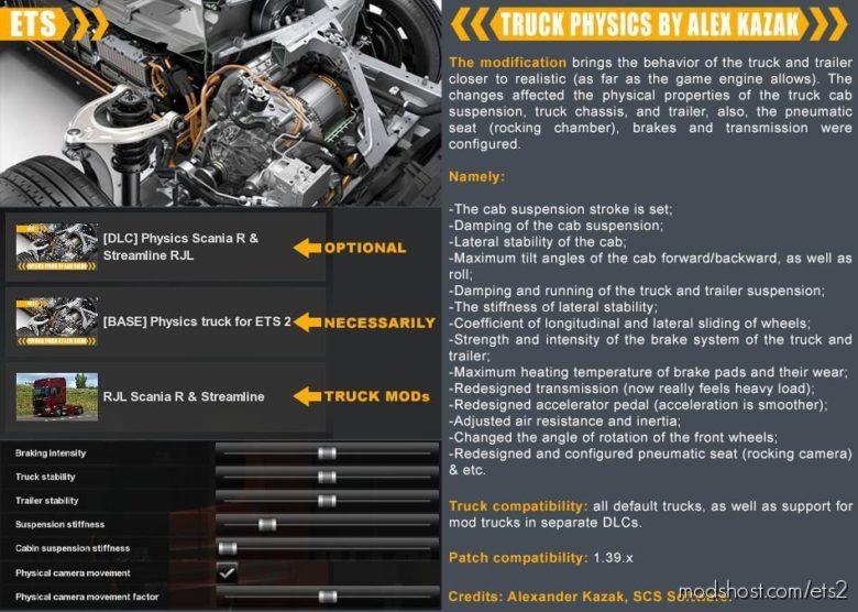 Truck Physics By Alex Kazak V0.3.1 for Euro Truck Simulator 2