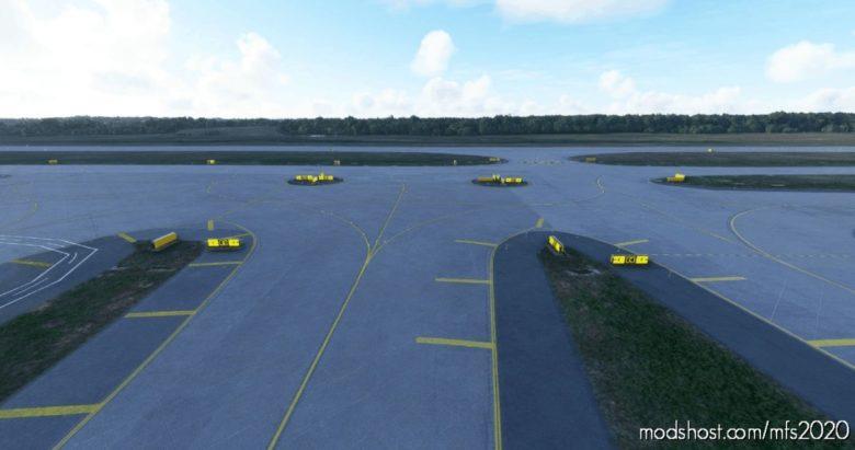 Krdu Raleigh Durham Intl – Taxi Corrections And Lighting Addition for Microsoft Flight Simulator 2020