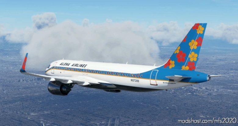 Aloha Airlines A320NEO Flower Livery (Surf Blue) – 8K for Microsoft Flight Simulator 2020