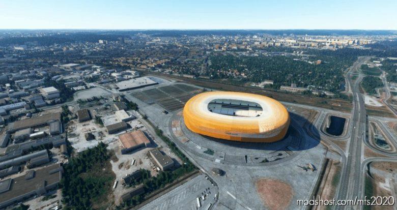 Stadium PGE Gdansk for Microsoft Flight Simulator 2020