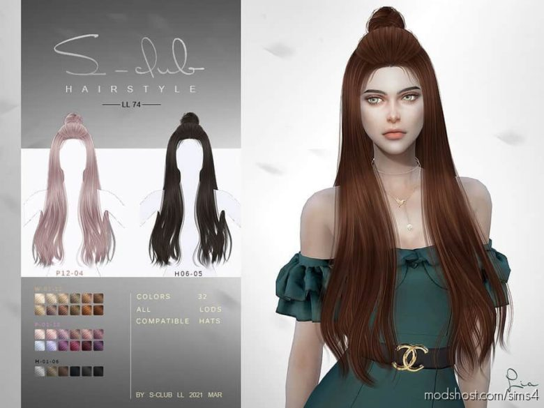 N74 LIA Hair for The Sims 4