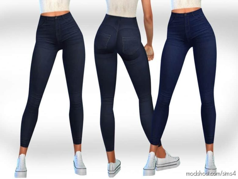 Female Dark Blue Jeans for The Sims 4
