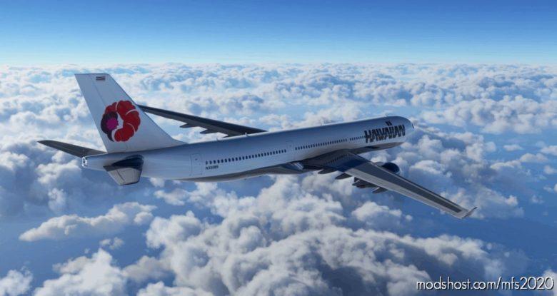 Hawaiian Airlines Retro Airbus A330 – 8K for Microsoft Flight Simulator 2020