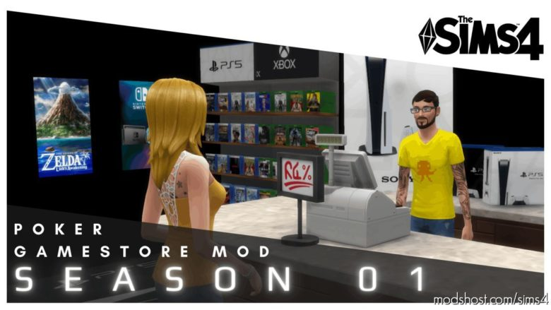 Poker Gamestore Mod Season 01 for The Sims 4
