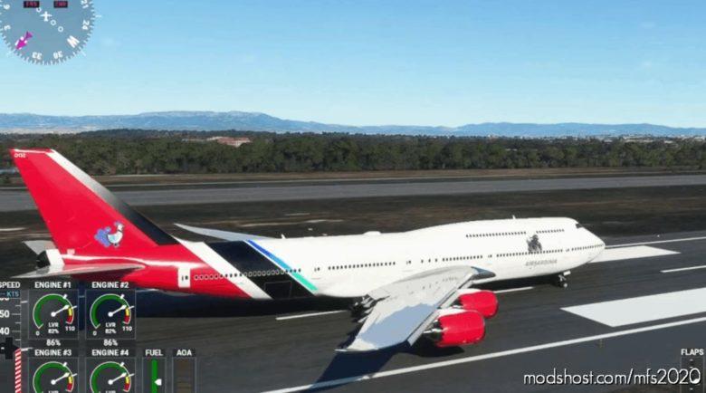 Boeing 747-800I Livery For Airsardinia Virtual Airline for Microsoft Flight Simulator 2020