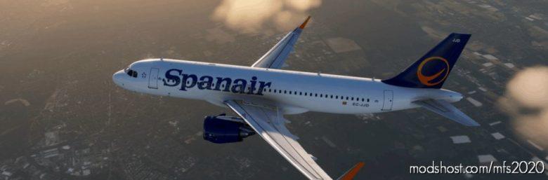 Spanair Ec-Jjd NEW Colors (OLD Text) for Microsoft Flight Simulator 2020