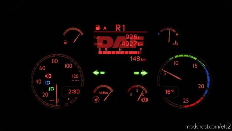DAF XF 105 Custom Dashboard Computer [1.40] for Euro Truck Simulator 2