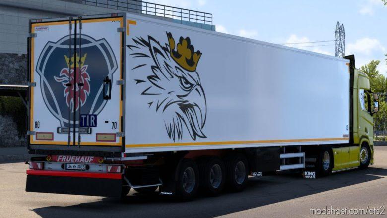 Fruehauf Iceliner Trailer With Scania Skin [1.40] for Euro Truck Simulator 2