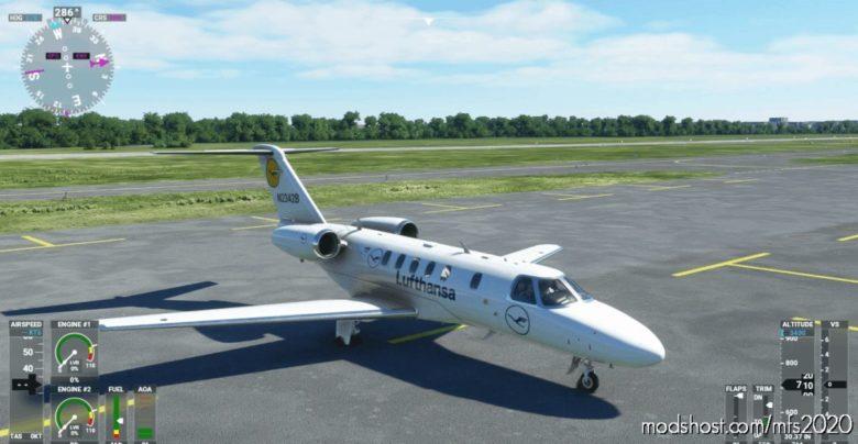 CJ4 Lufthansa Airlines Livery for Microsoft Flight Simulator 2020