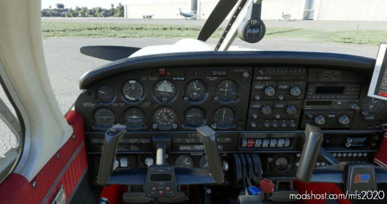 Piper PA28R Arrow III (Justflight) – Clean Interior V1.5 for Microsoft Flight Simulator 2020